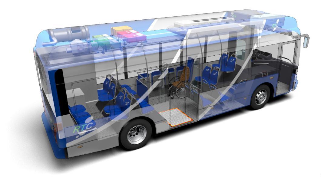 Intérieur 3D du Midibus