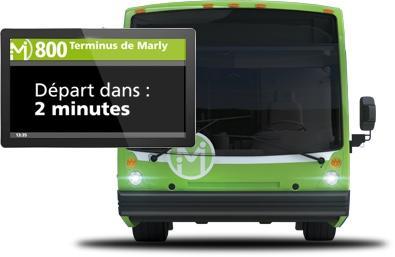 Écran dans les bus