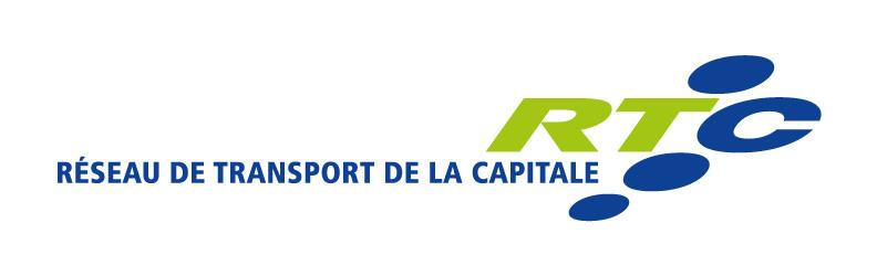 Logo horizontal de couleur : Réseau de transport de la Capitale RTC