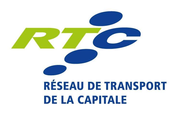 Logo vertical de couleur : RTC Réseau de transport de la Capitale