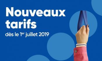 Nouveaux tarifs dès le 1er juillet 2019