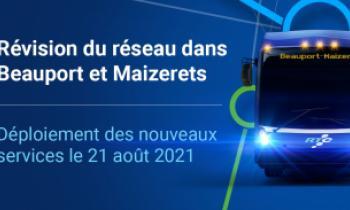 Déploiement des nouveaux services le 21 août 2021