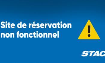 Site de réservation non fonctionnel