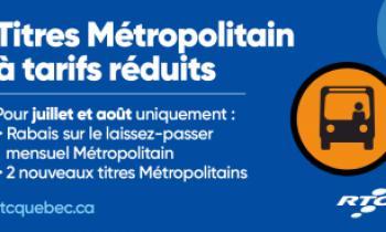 Titres Métropolitains à tarifs réduits
